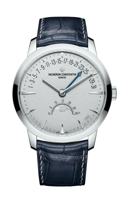 Patrimony moon phase retrograde date - Collection Excellence Platine